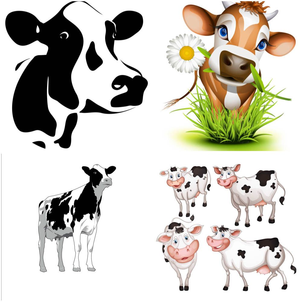 Cow templates vector | J | Pinterest | Cow, Template and Clip art