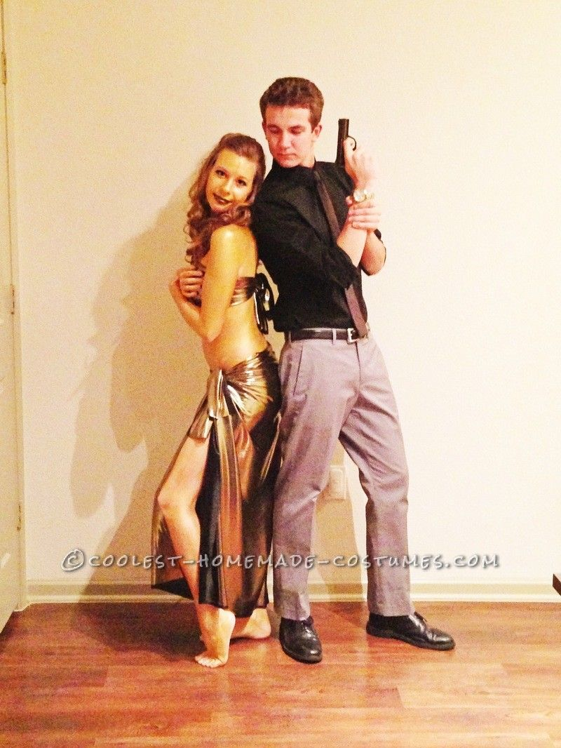 coolest couple halloween costume: james bond and the golden girl