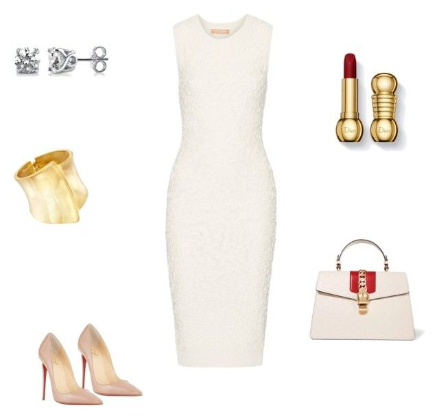 """Без названия #2263"" by newyorkstylrer ❤ liked on Polyvore featuring Ross-Simons, Michael Kors, BERRICLE, Gucci and Christian Louboutin"