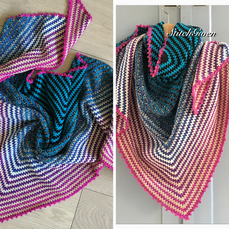 Free Pattern This Easy Crochet Triangle Shawl Pattern Is ...