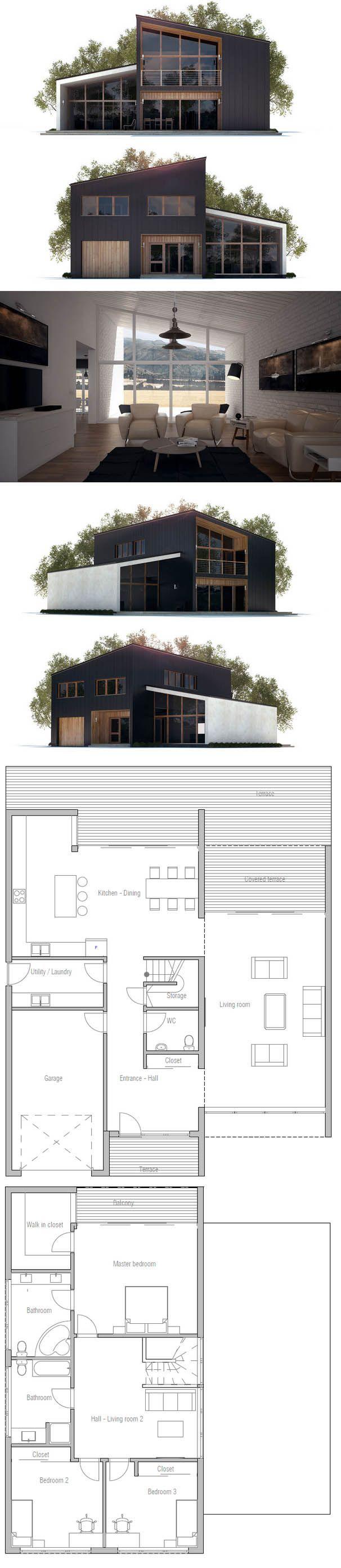 plan de maison facade