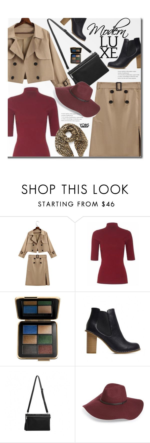 """""""Yoins Street Chic"""" by beebeely-look ❤ liked on Polyvore featuring Estée Lauder, Halogen, Mulberry, WorkWear, LeopardPrint, officestyle, falltrend and yoinscollection"""