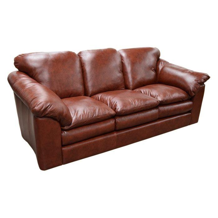 Omnia Leather Oregon Sofa Reviews Wayfair