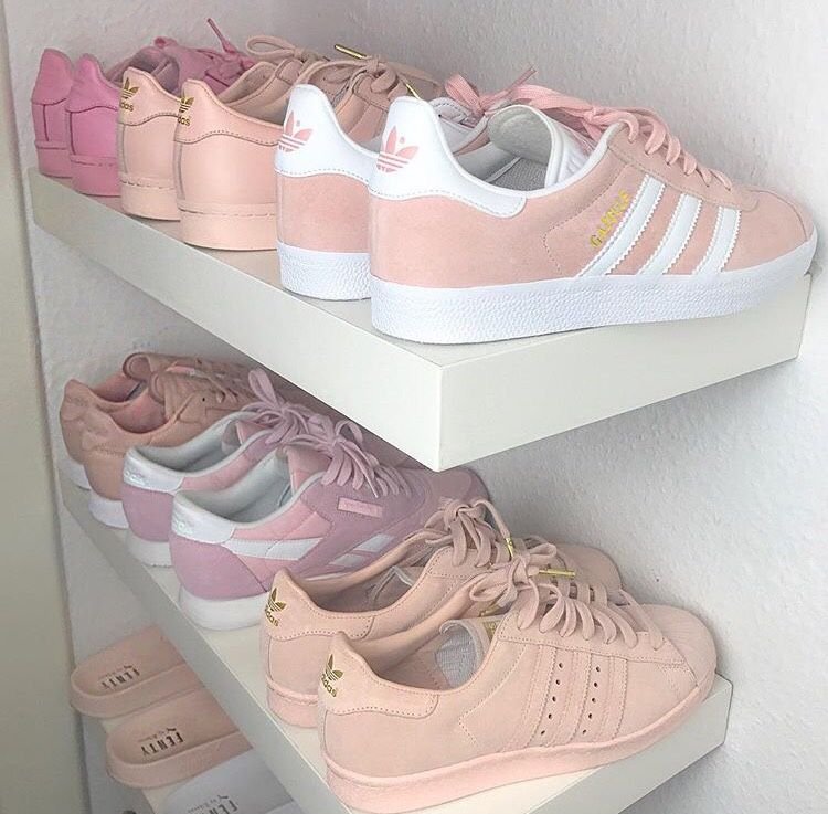 premium selection 3b3fc 8850f Shoes  adidas pastel sneakers blue sneakers grey sneakers petrol dusty pink  pink sneakers adidas. que bellos a quien no los quiere