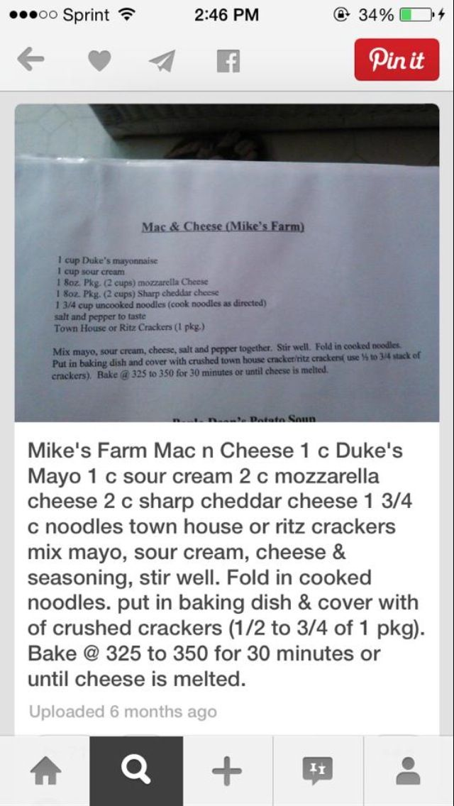 Mike S Farm Mac Cheese Different Recipes Mac And Cheese Favorite Recipes