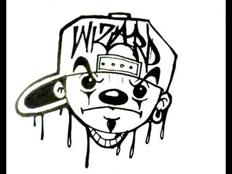Drawing Character Mickey Mouse Gangster Outline Loopit Clowns