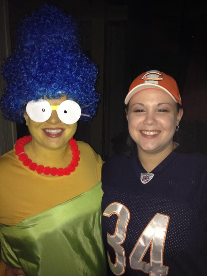 marge simpson halloween costume diy bluewig greendress homemade - Simpson Halloween Costume
