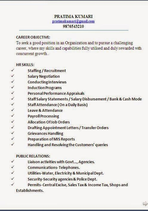 examples of a good cv Sample Template Example - examples of work experience
