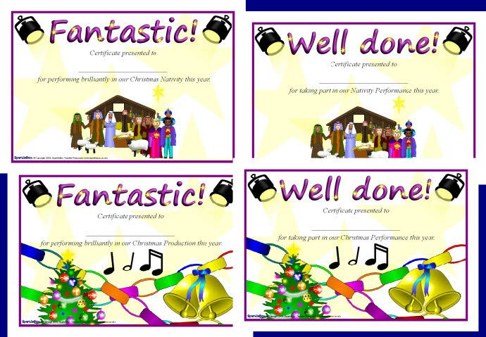 Christmas performance certificates sb1905 sparklebox christmas christmas performance certificates sb1905 spiritdancerdesigns Images