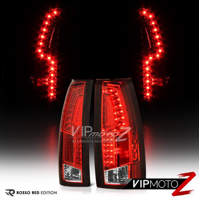Red Thunderbolt Style 1988 1998 Chevy Gmc C1500 C2500 C3500 Led Tail Lights Chevy Chevy Pickups Chevy Pickup Trucks