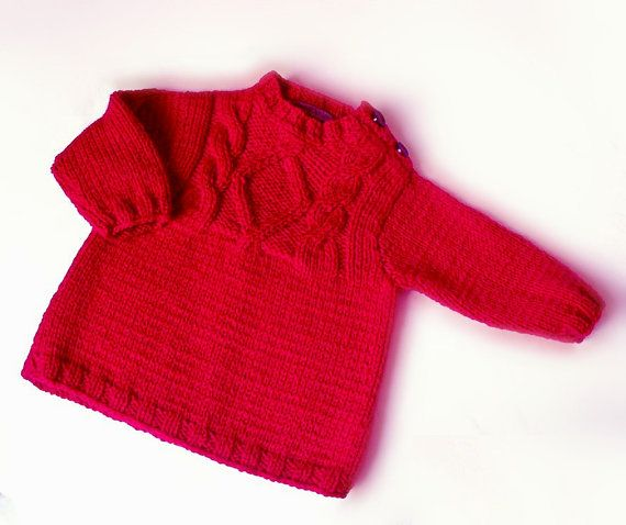 Find this Pin and more on KNITTING PATTERNS. Items similar to Red Kids  sweater Hand