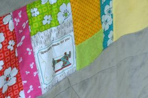 This Double Slice quilt is such a fun, easy way to make a scrappy quilt! Love it!