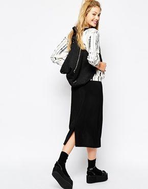 Enlarge Monki Pencil Skirt With Split Back