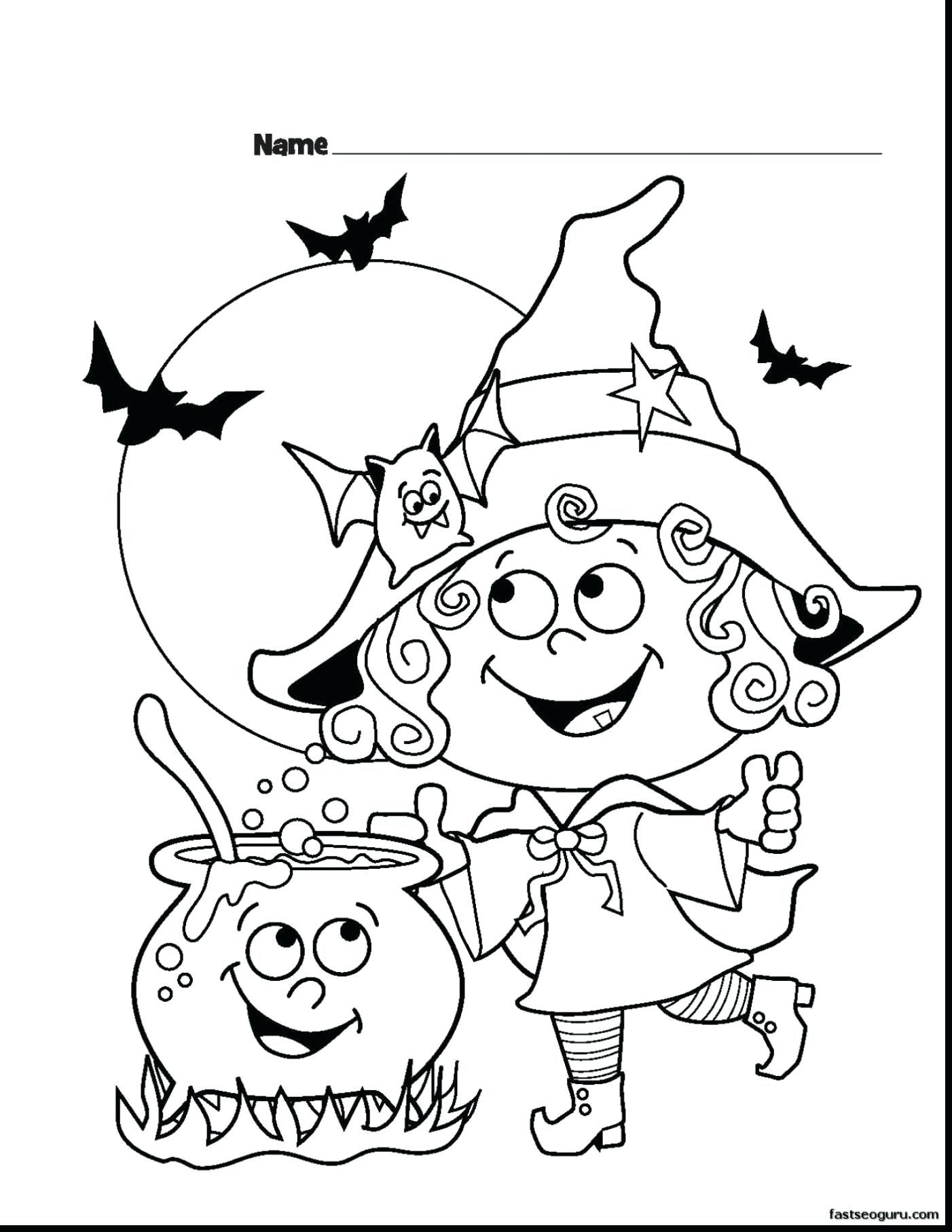 - Free Printable Halloween Coloring Pages For Preschoolers With