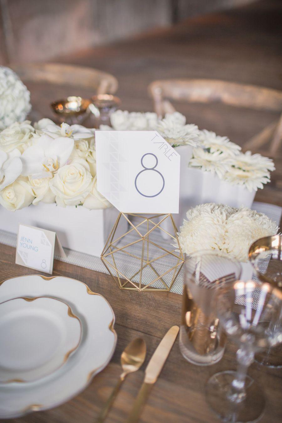 Modern Geometric Wedding Inspiration | Pinterest | Centerpieces ...