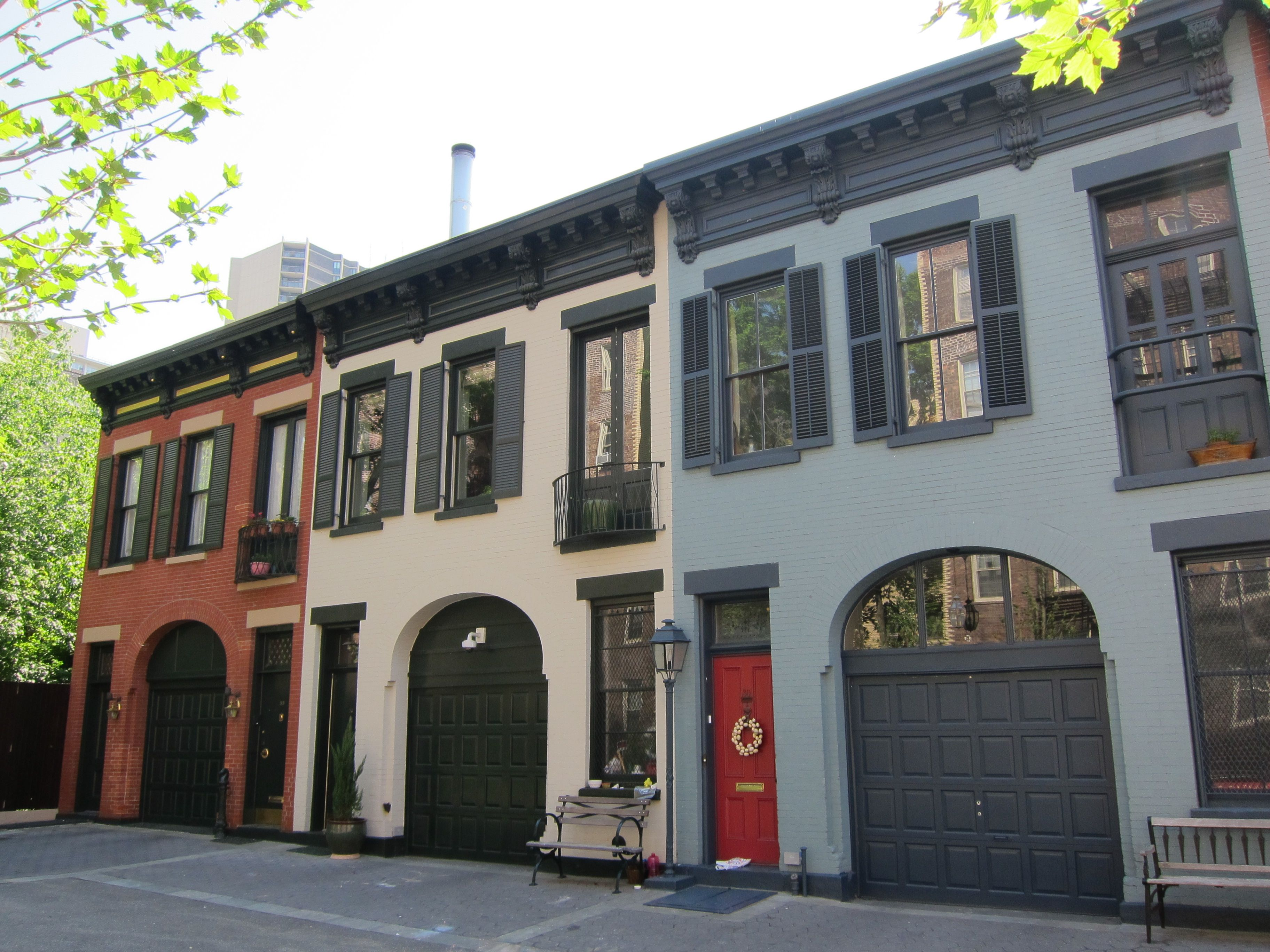 Carriage houses on College Place in Brooklyn Heights