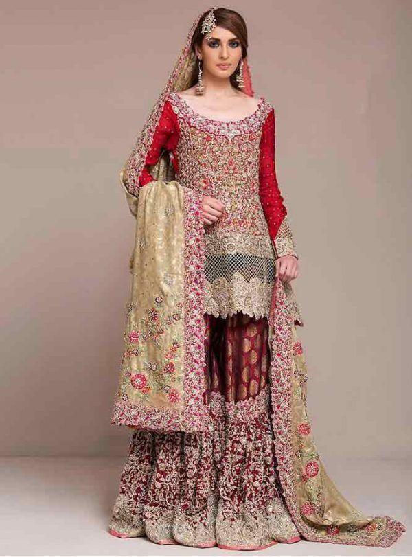 15d93b914e Wedding Sharara Dress | adeem in 2019 | Wedding dresses, Pakistani ...