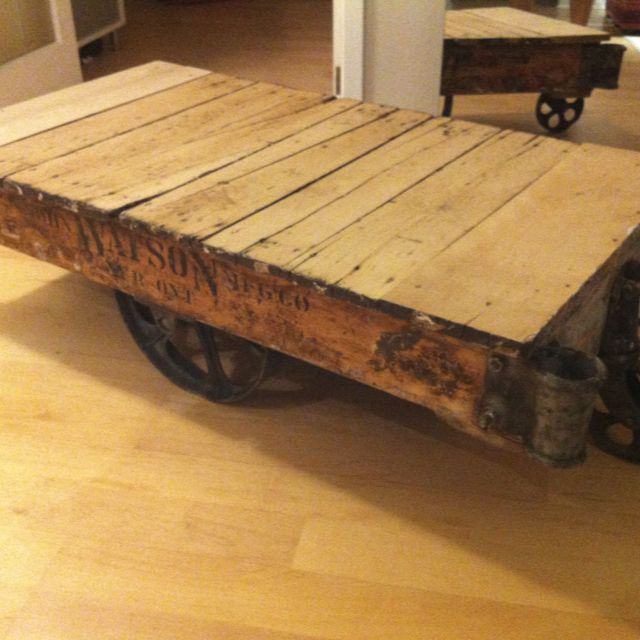 Antique Factory Cart Converted To A Coffee Table Coffee Table