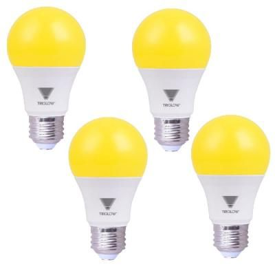 Triglow 60 Watt Equivalent A19 E26 Standard Medium Base Led Bug Light Bulb Yellow 4 Pack Light Bulb Bulb Light Bulb Bases