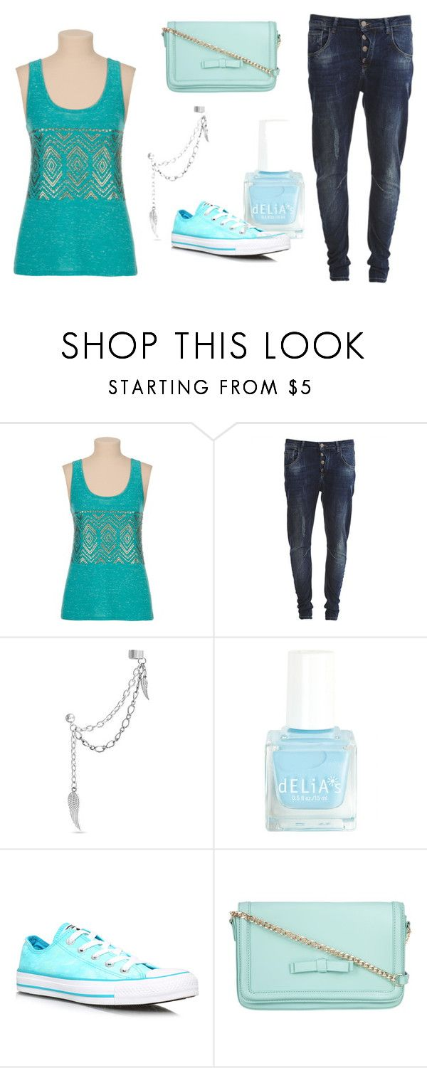 """""""blue sensations"""" by dinascreations ❤ liked on Polyvore featuring Object Collectors Item, Converse and ZALORA"""