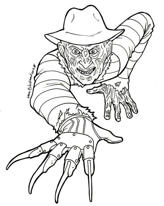 Horror, Coloring and Coloring pages on Pinterest | Colorear ...