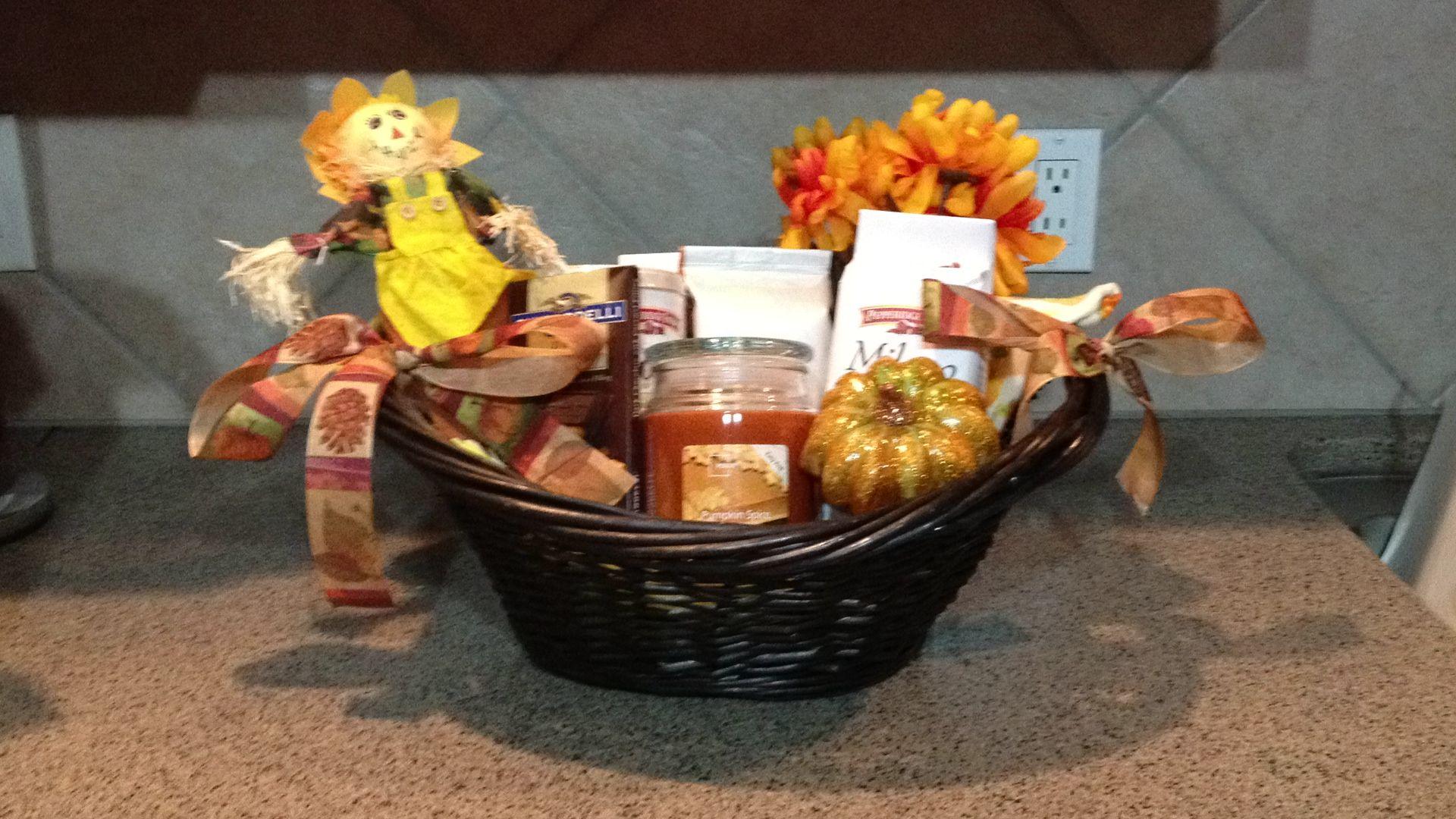Fall gift basket fall gifts fall gift baskets raffle