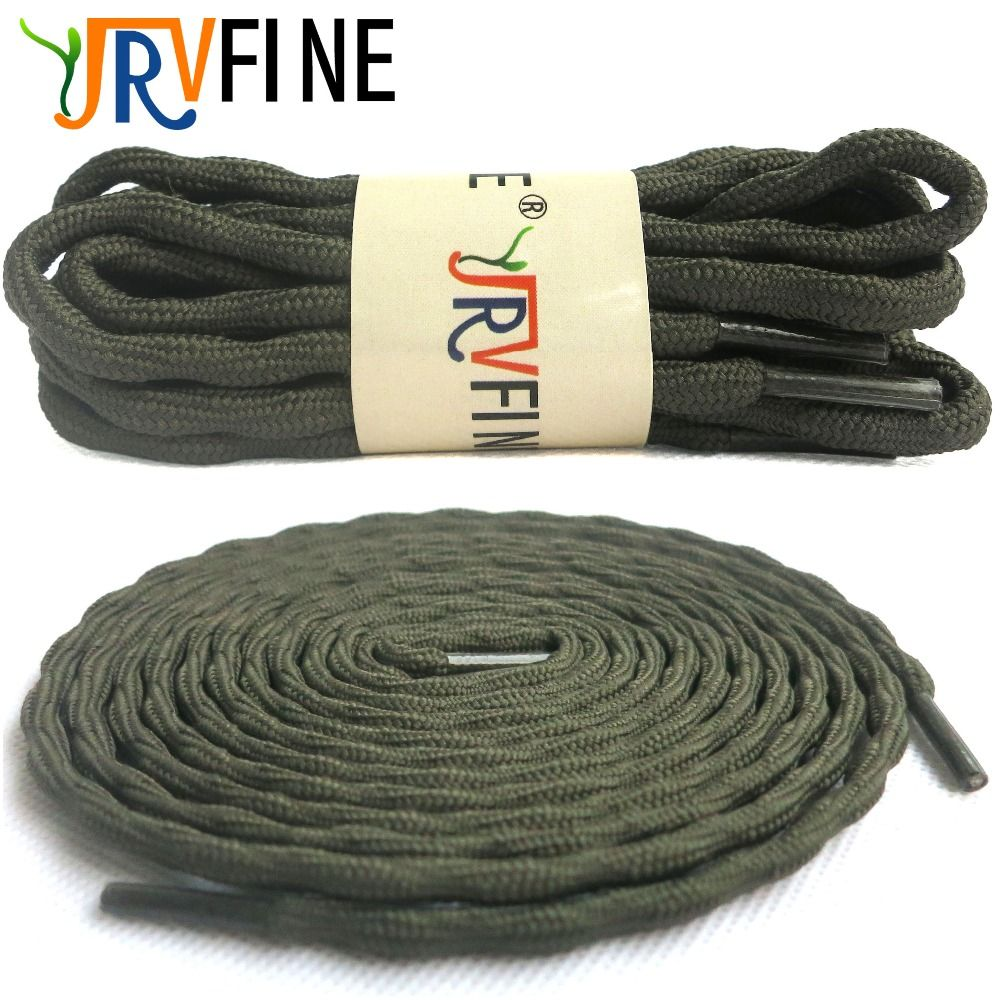 YJRVFINE 1 Pair Wear-resistant Outdoor Shoe laces Climbing ShoeLaces Dark Green Round Hiking Shoelaces for Travel Hiking Shoes