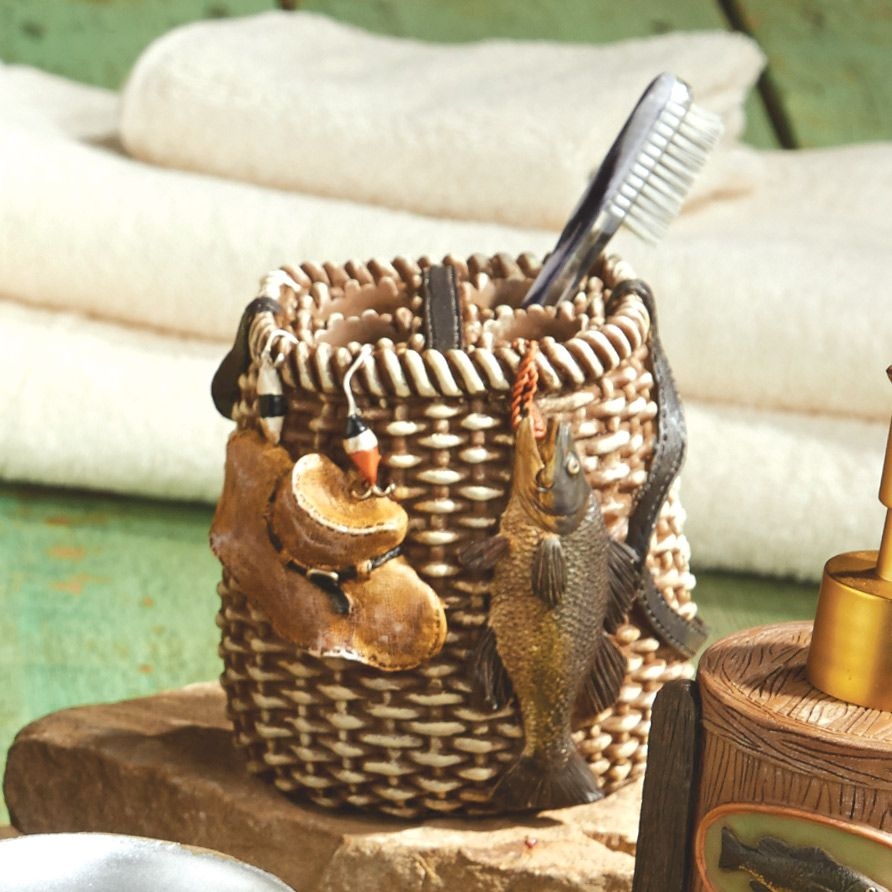 Rather Be Fishing Toothbrush Holder With Images Fishing Decor