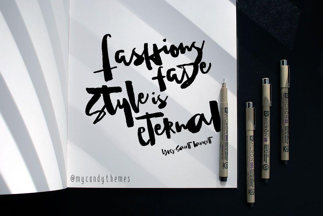 Sunshine,Brush Font withAlternatives by mycandythemes on @creativemarket