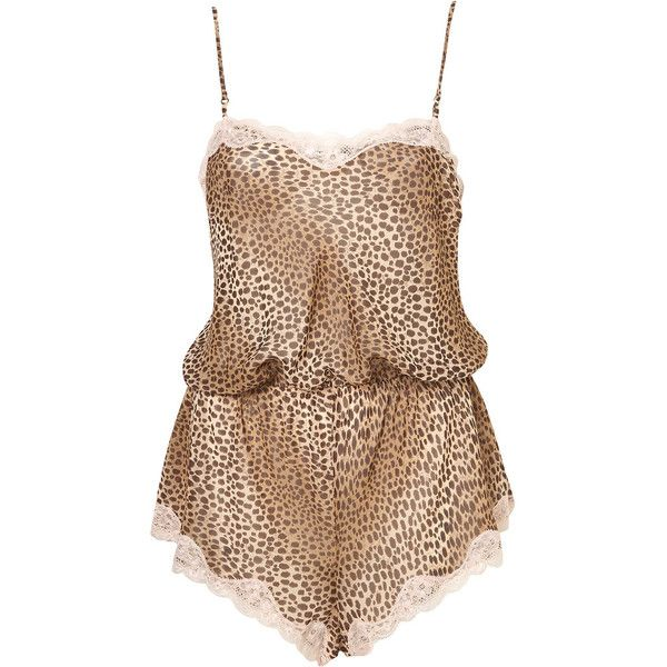 Animal Chiffon Teddy (93 BRL) ❤ liked on Polyvore featuring intimates, dresses, lingerie, underwear, women, animal print lingerie, teddy lingerie and chiffon lingerie