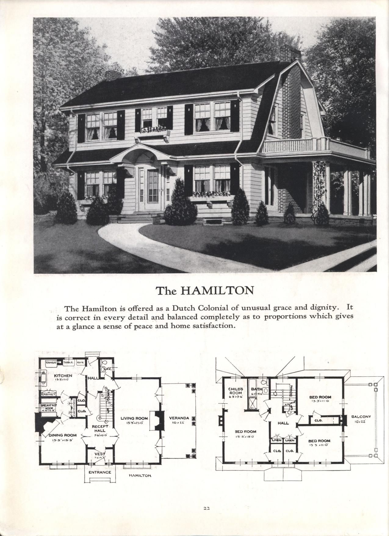 Better Homes At Lower Cost No 17 By Standard Homes Co Publication Date 1930 The Hamilto Dutch Colonial Homes Dutch Colonial Southern Living House Plans