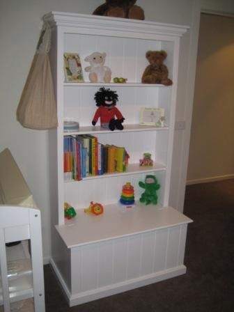 Add A Toy Box To Our Bookshelf.