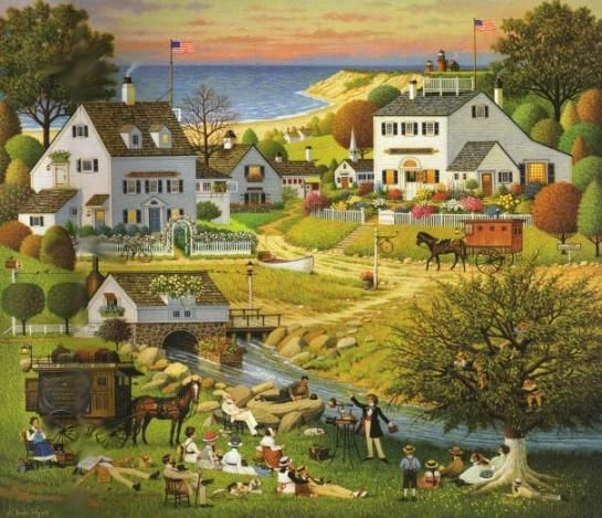 © Charles Wysocki hound of the Baskervilles love this guys work