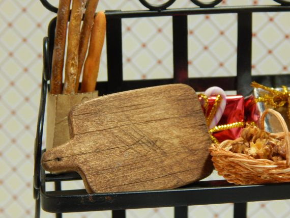 Miniature Handmade Wood Cutting Board Walnut by JansPetitPantry