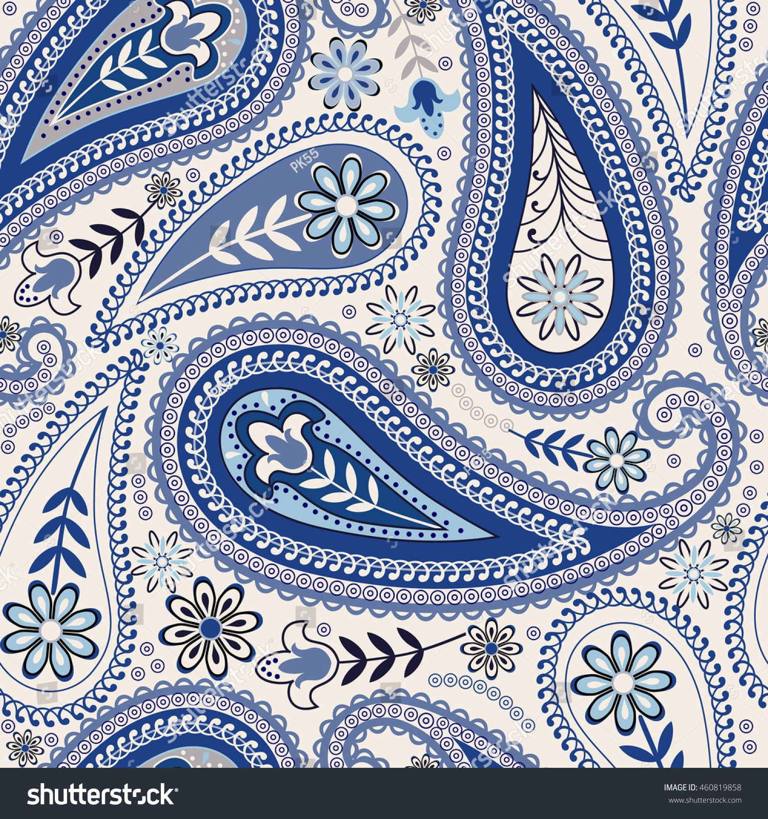 Seamless Paisley background. Vintage hand drawn vector pattern. 手のスケッチ
