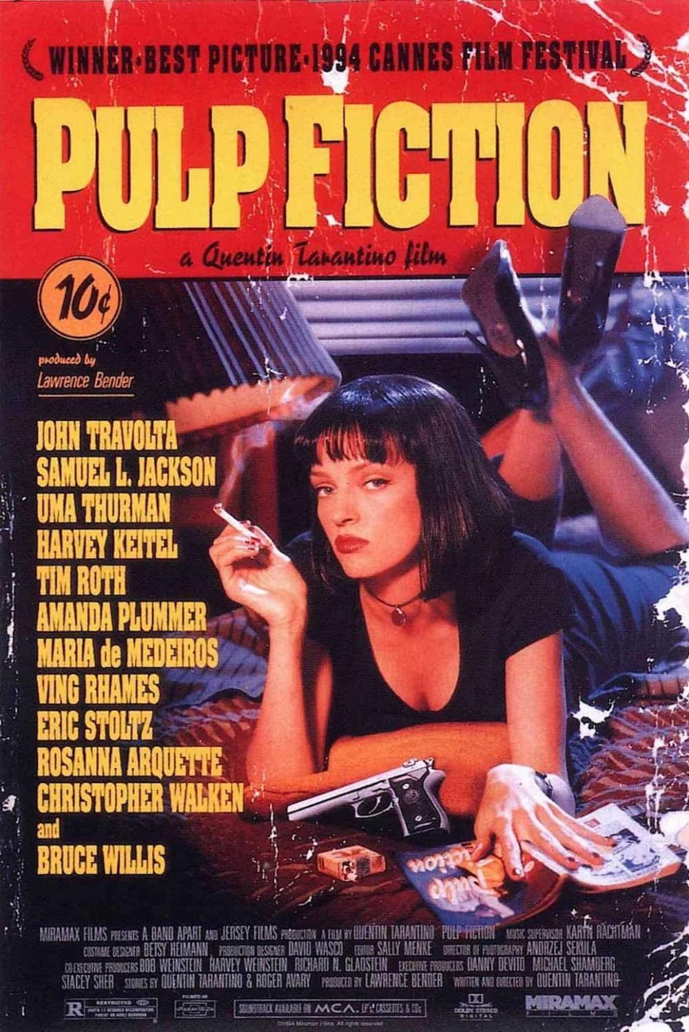 "Quentin Tarantino /""Directed by/"" VHS Print Pulp Fiction Kill Bill Cult Film"