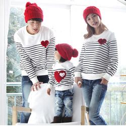 Online Shop Family fashion Autumn/Winter/Spring family pack cotton set mother/child clothes, mother and daughter striped long-sleeve T-shirt Aliexpress Mobile