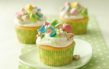 Lucky Charms Cupcakes- St. Patty's Day.
