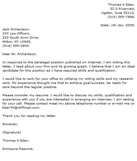 Social Work Cover Letter Sample Paralegal Resume Pinterest - objective for paralegal resume