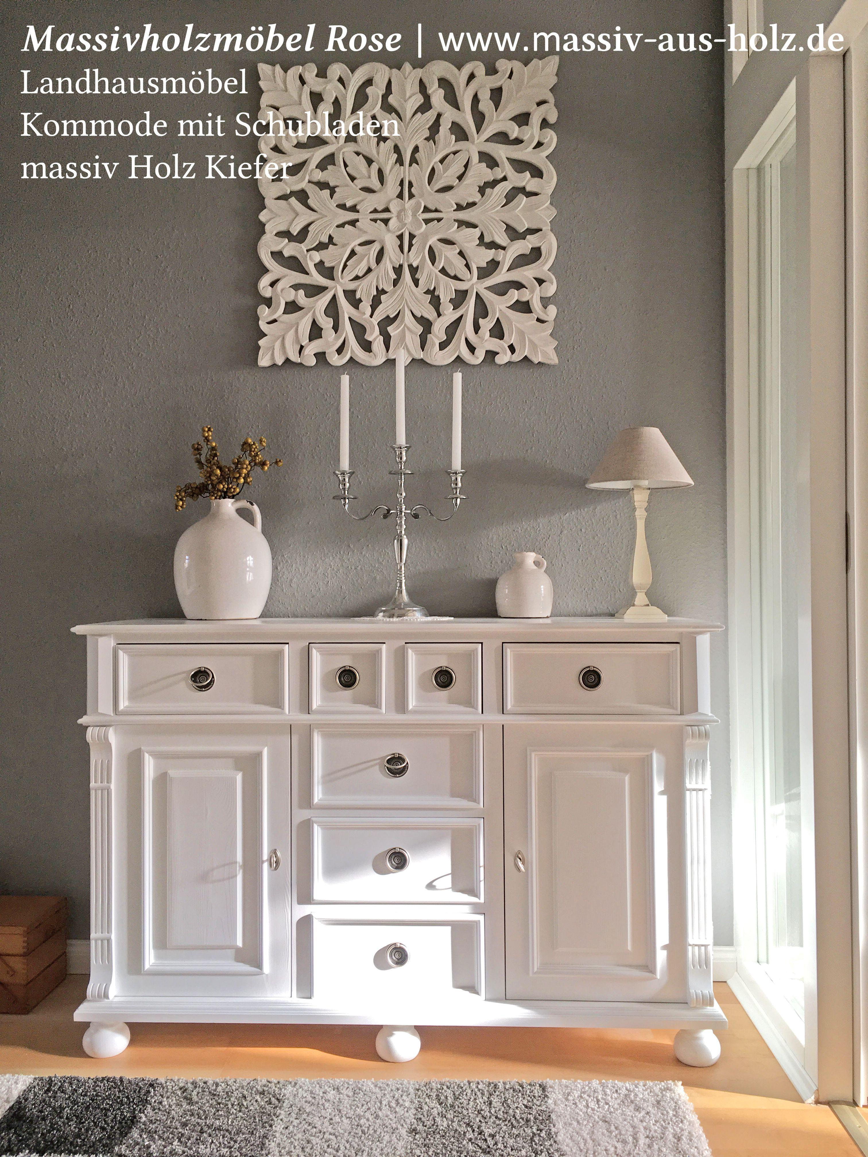 Möbel wohnzimmer massiv  Eintreten und Wohlfühlen – #weiße #Möbel machen den Empfang zu ...