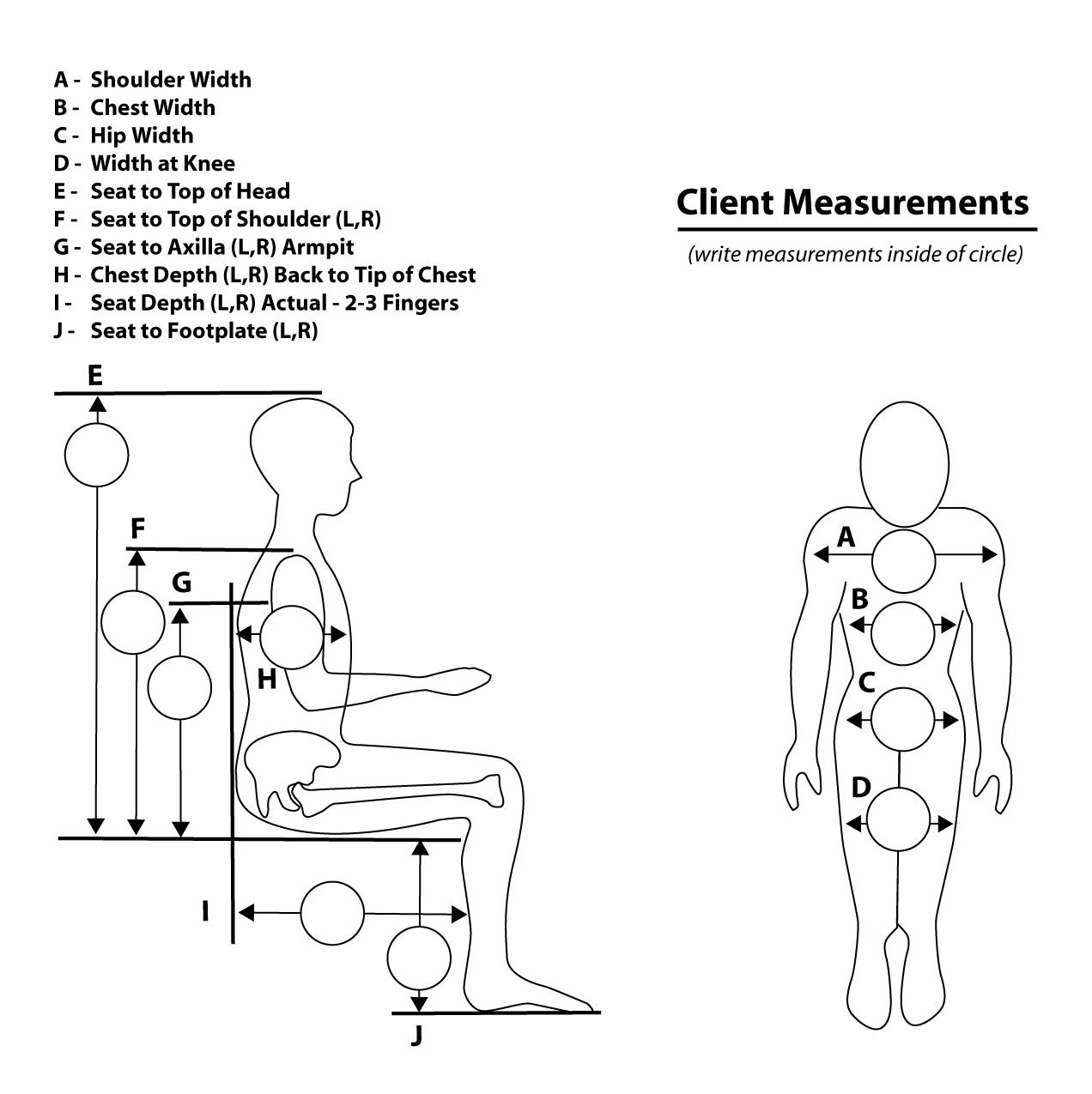 Wheelchair Measurements Pediatric Therapy Center For All