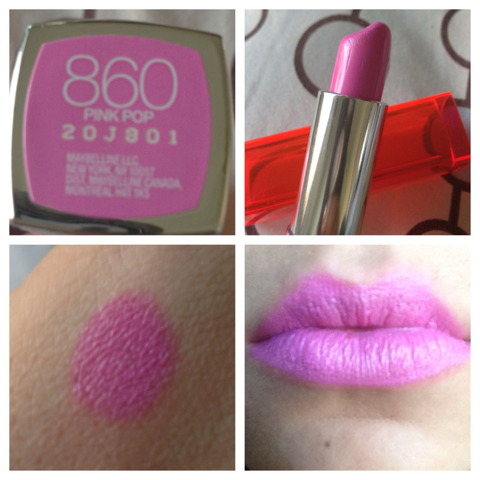 Maybelline Pink Pop 860 Lipstick Makeup Pinterest Everbest Bjorka Handbag Hitam
