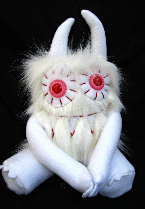 Plush monster MERRITT handmade one of a kind by PinkSprinklesPlush, $24.00