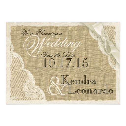 Vintage Lace Save the Date Personalized Invitation