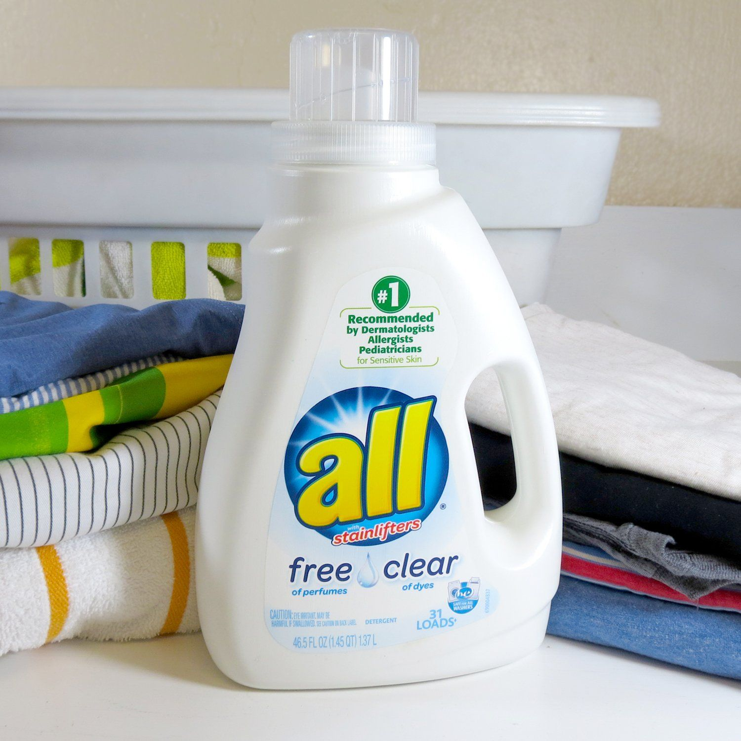 All Liquid Laundry Detergent Free Clear For Sensitive Skin 46 5