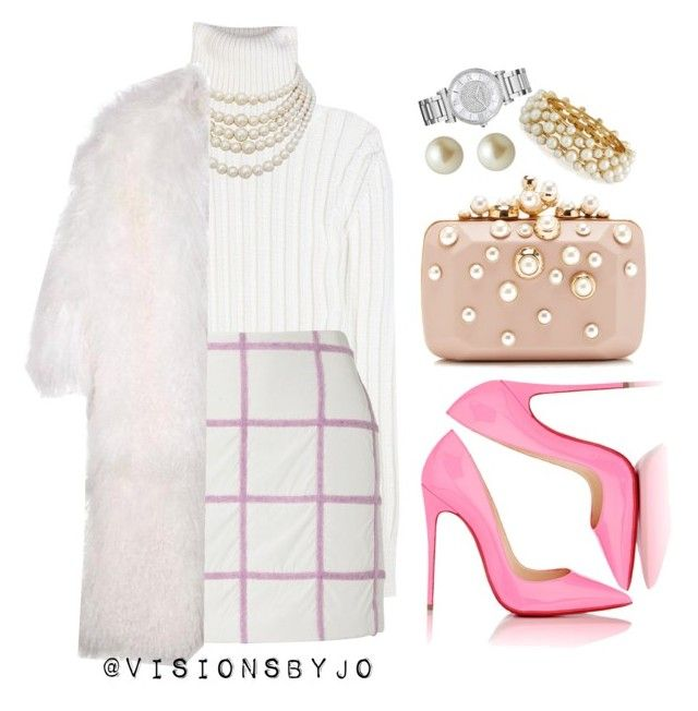 """Soft PINK."" by visionsbyjo on Polyvore featuring Calvin Klein Collection, 3.1 Phillip Lim, Christian Louboutin, Christian Dior, Carolee, R.J. Graziano, Elie Saab and Michael Kors"