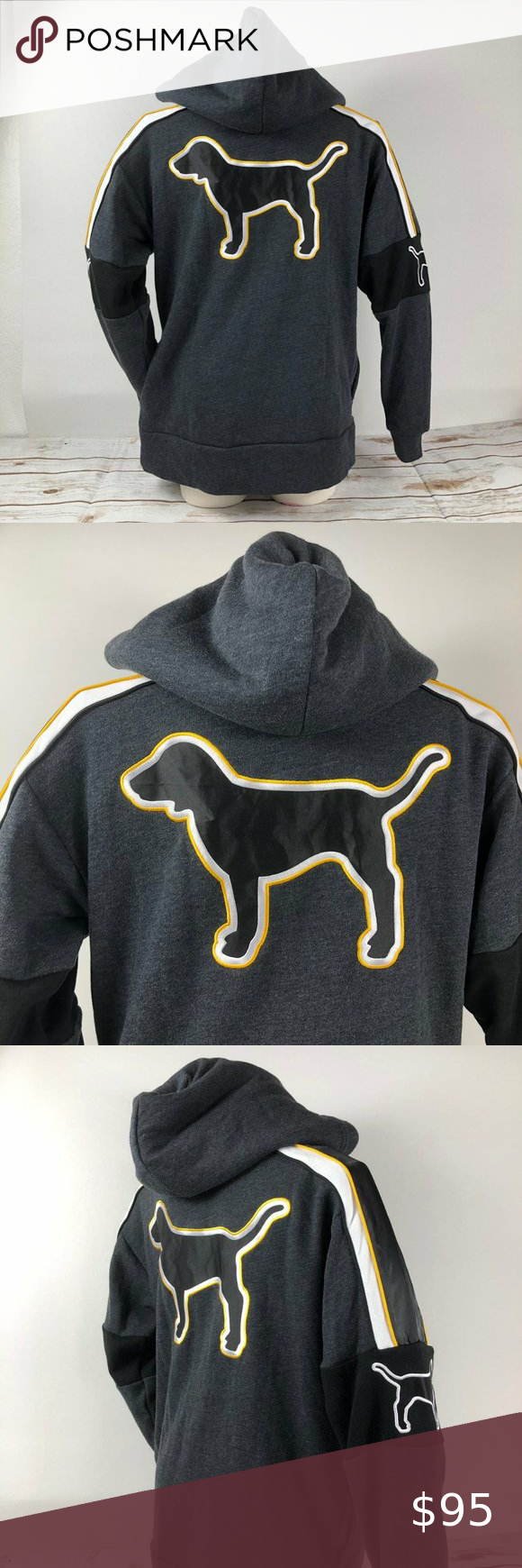 Rare VS Pink Dog Logo Hoodie Pullover XS New with tag