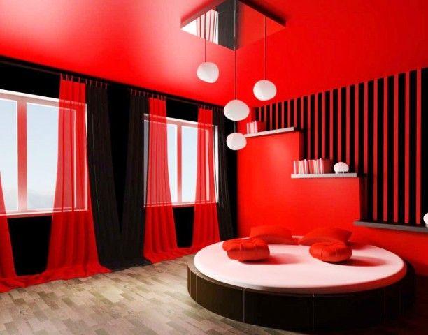 Couleur Interieur Maison Moderne Deco Chambre Rouge Deco Chambre Noire Rouge Chambre