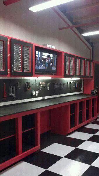 Garage Shop Cabinets Built By Matt Preusser Garage Work Bench Diy Garage Garage Organization
