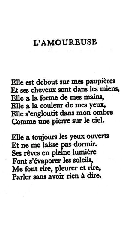 l amoureuse paul eluard analyse
